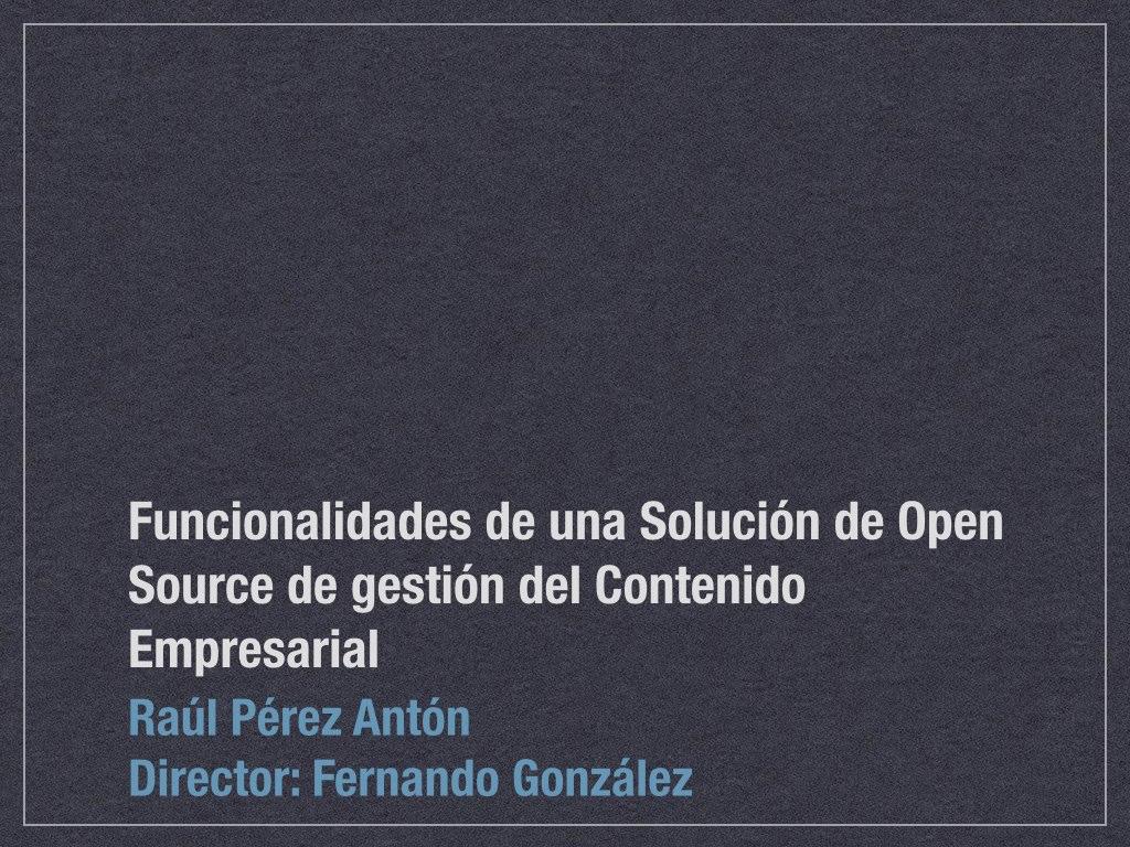 Gestión del Contenido Empresarial: Proyecto de Fin de Especialista